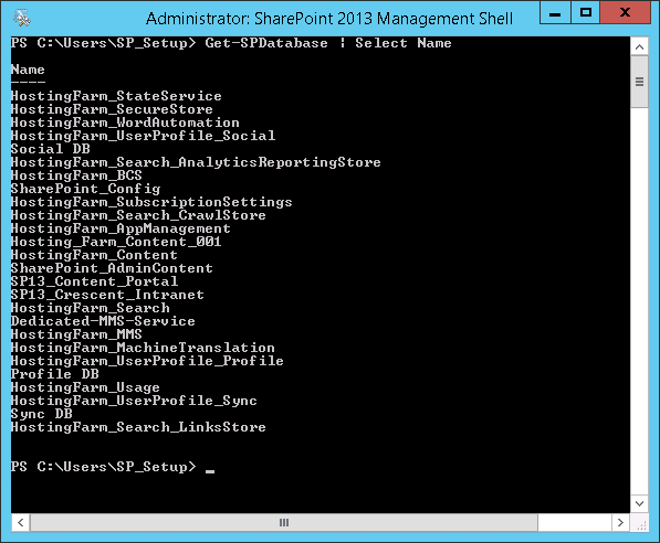 find all unused databases in sharepoint