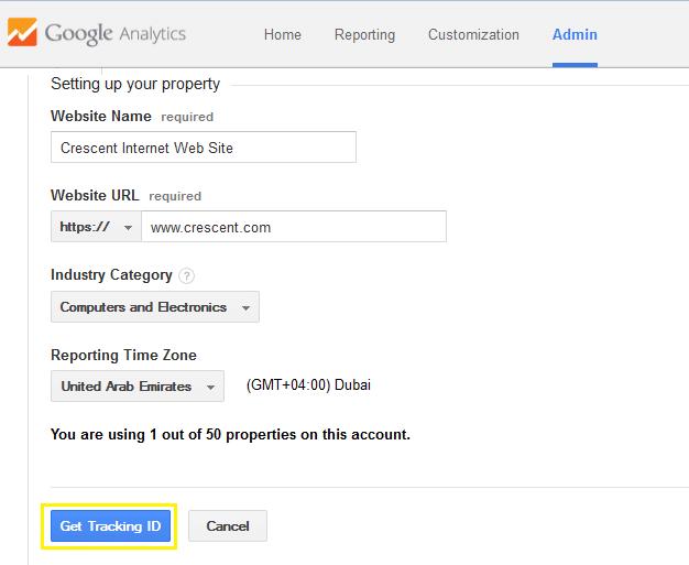 google analytics tracking code for sharepoint