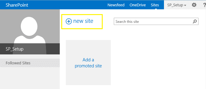 Configure Self Service Site Creation in SharePoint 2013