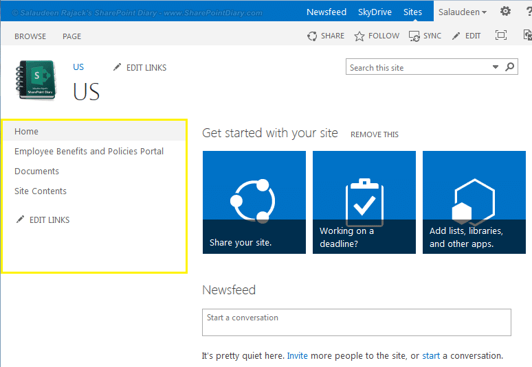 sharepoint 2013 increase quick launch width