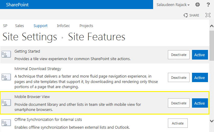 sharepoint 2013 disable mobile site
