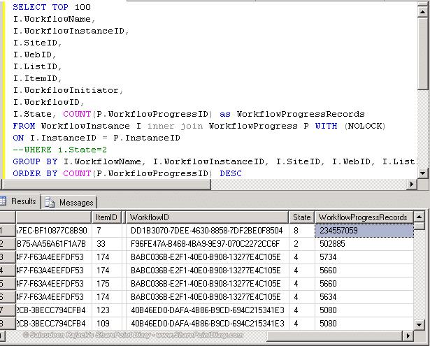 find nintex workflow instances