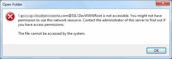 ssl davwwwroot is not accessible