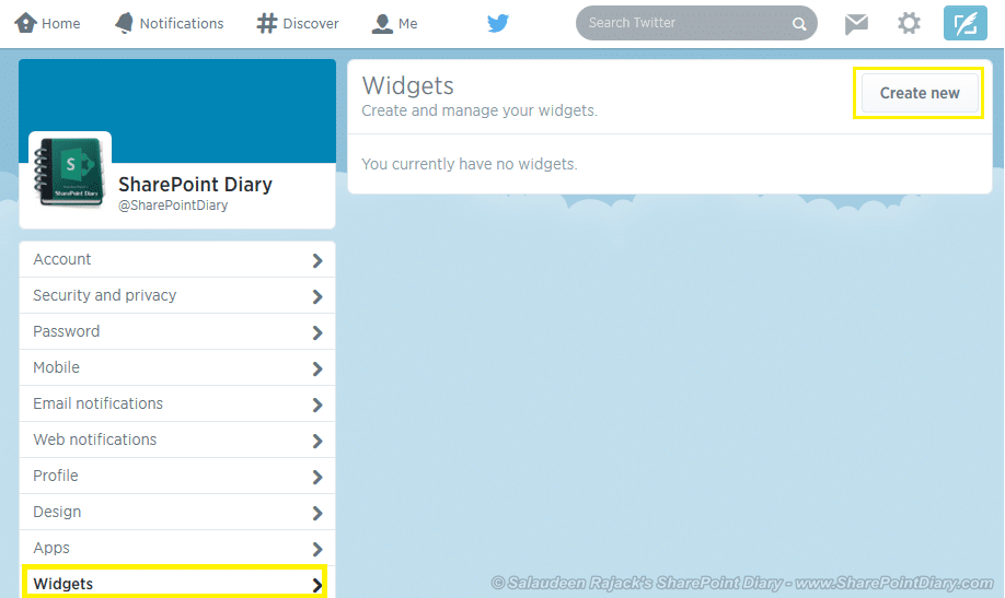 twitter feed in sharepoint 2013