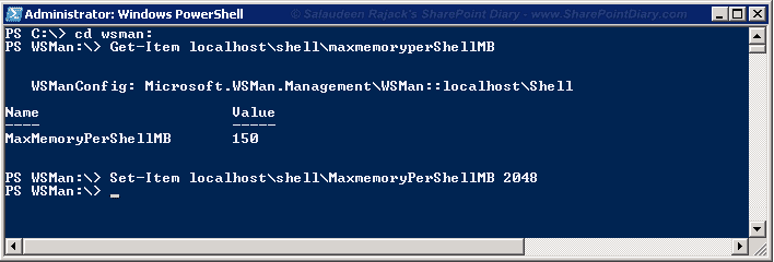 """PowerShell """"Exception of type 'System.OutOfMemoryException'"""""""