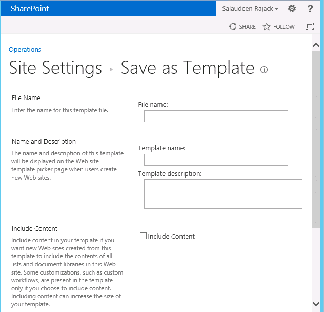 save site as template sharepoint 2013 publishing site