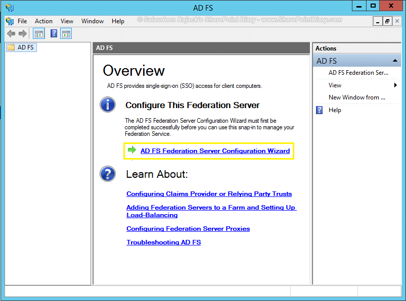 install adfs for sharepoint 2013