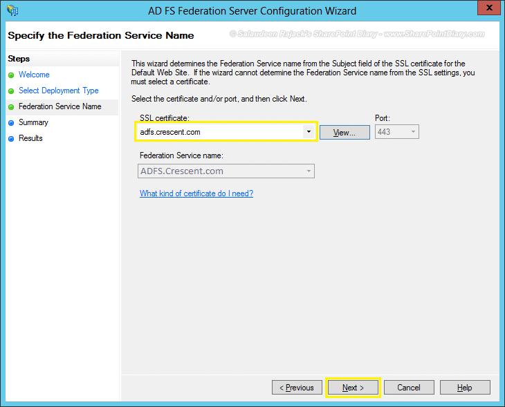 16 assign ssl certificate