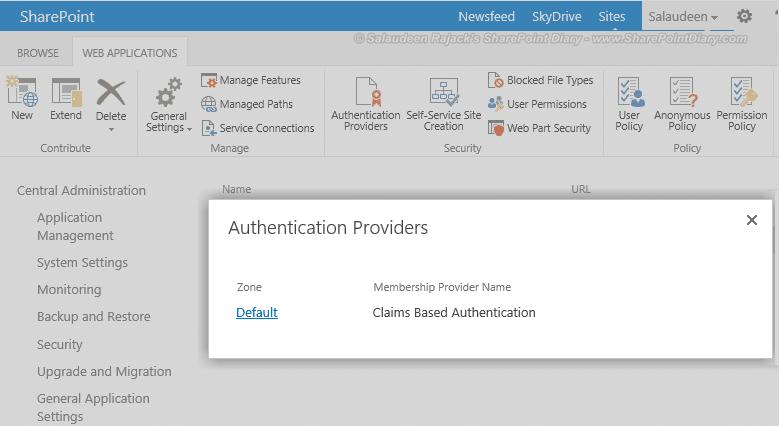 35 default authentication provider
