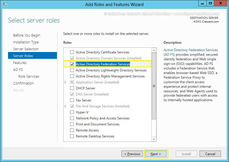 adfs configuration sharepoint 2013