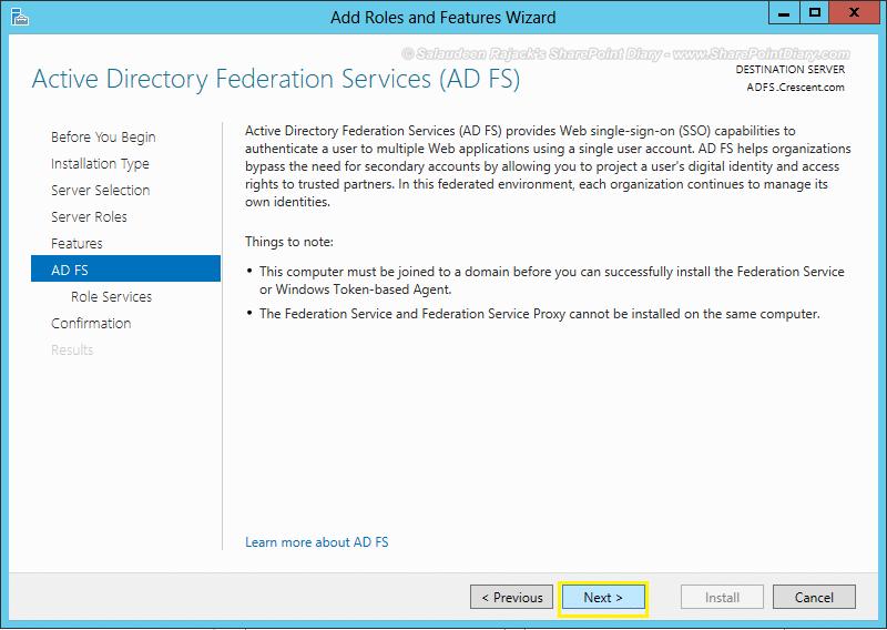 adfs sharepoint configuration