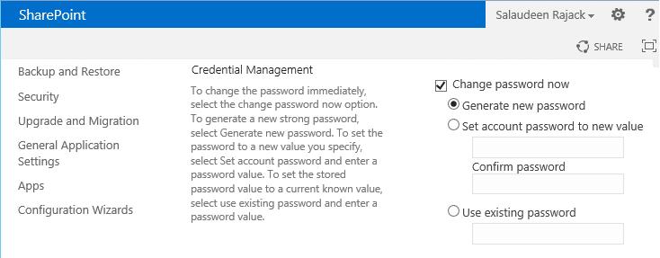 change managed account password