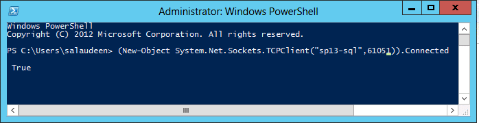 check sql server connectivity