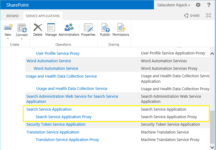 rename sharepoint 2013 service application
