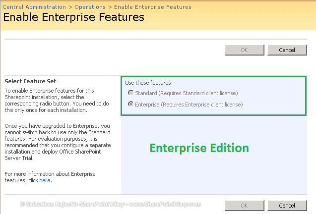 Check Standard or Enterprise Edition in SharePoint