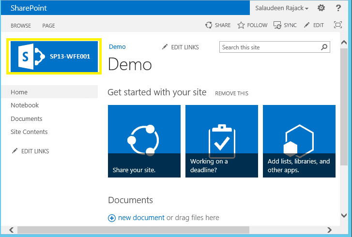 find the sharepoint server in the farm which is serving the requests