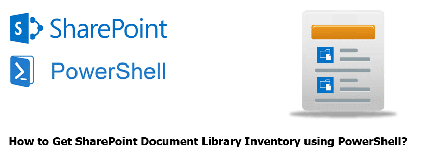 sharepoint document library inventory