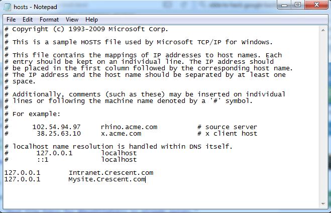 sharepoint host file powershell