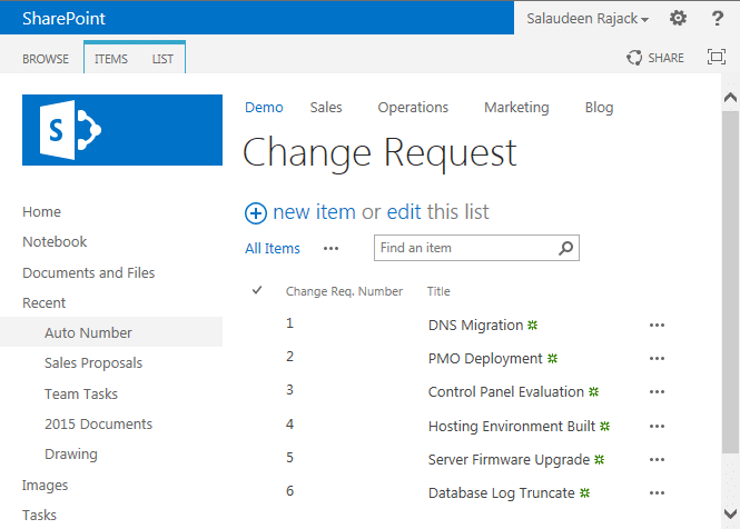 change id column name in sharepoint