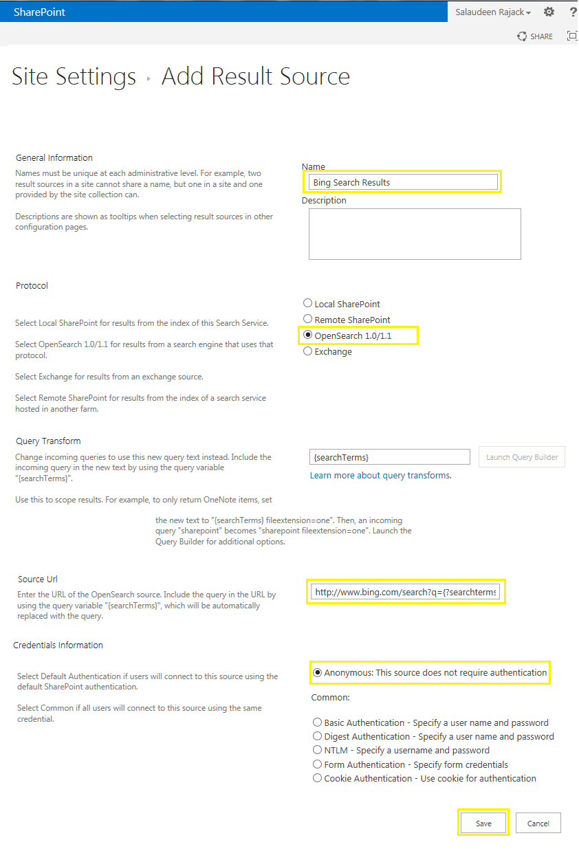 sharepoint 2013 federated search results