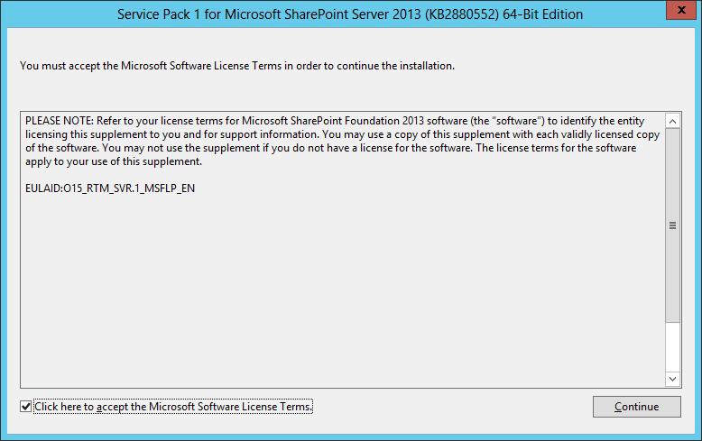 sharepoint 2013 service pack installation