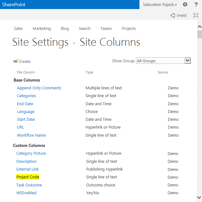 Create Site Column in SharePoint using PowerShell