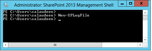 New-SPLogFile PowerShell command