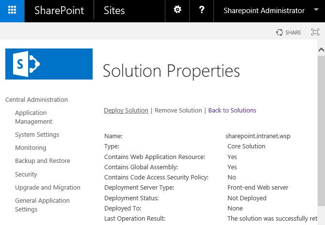 bulk deploy solutions in sharepoint