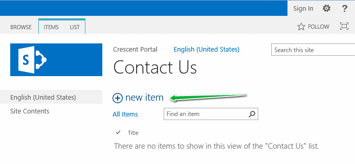 sharepoint anonymous access add list item