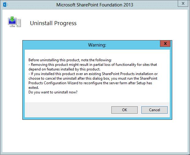 uninstall sharepoint 2013 manually