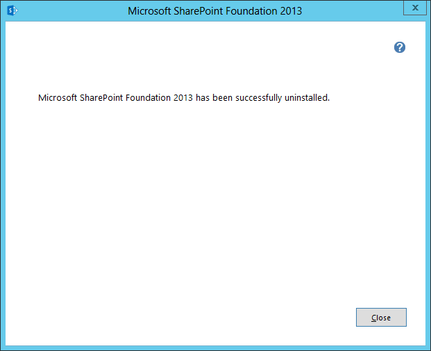 uninstall sharepoint 2013 done