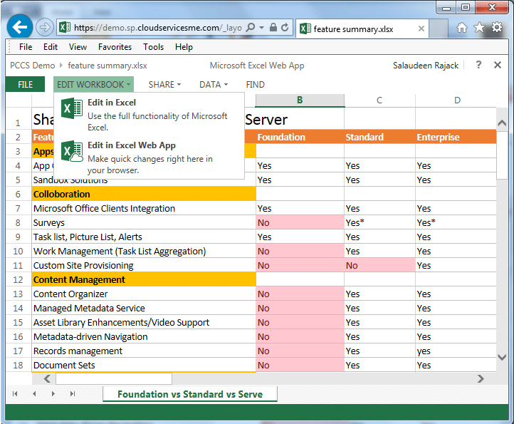 sharepoint 2013 office web apps edit in browser