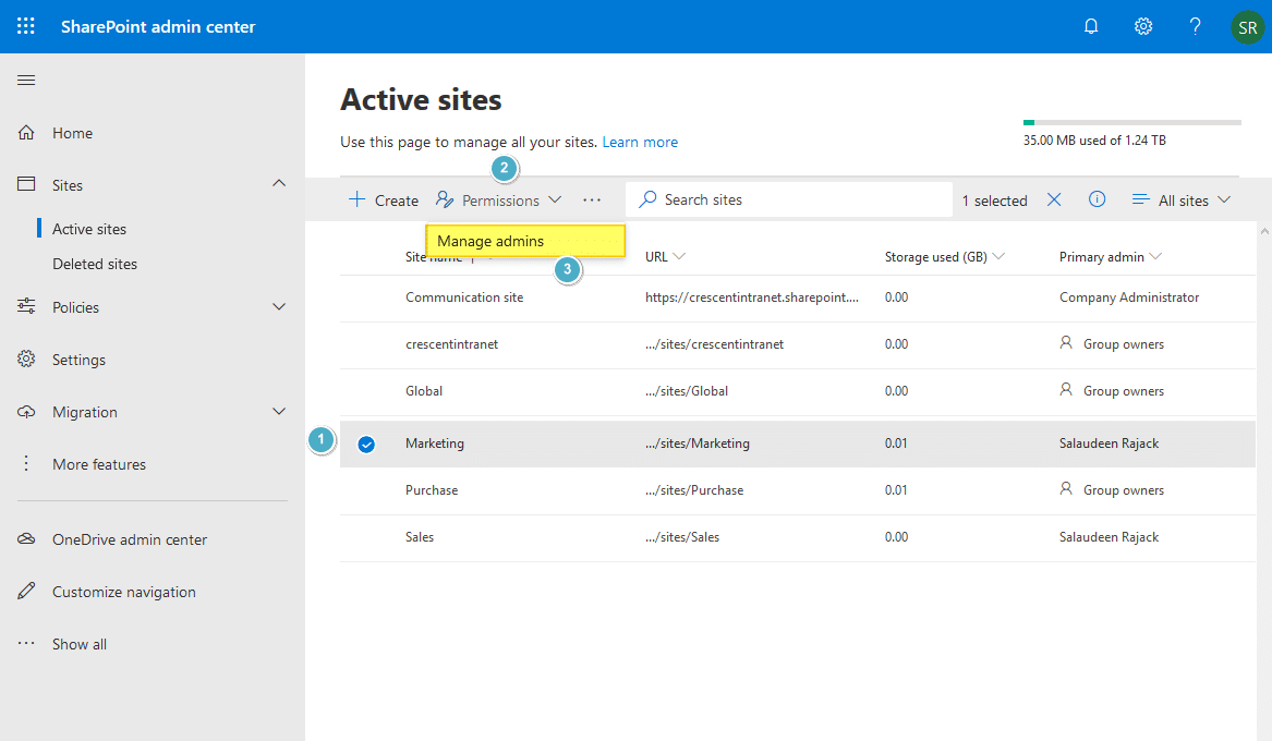 sharepoint online powershell add site collection administrator
