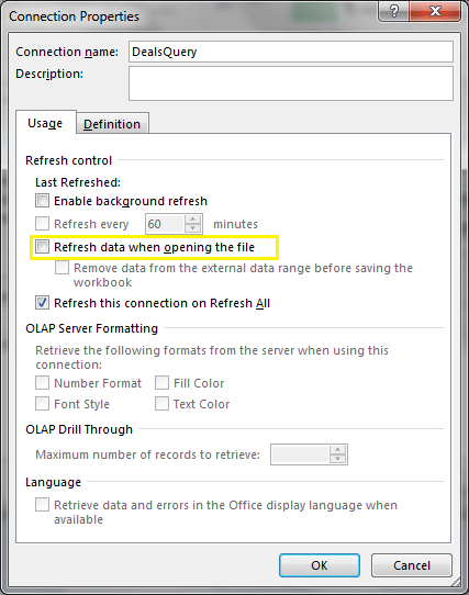 sharepoint list as excel data source