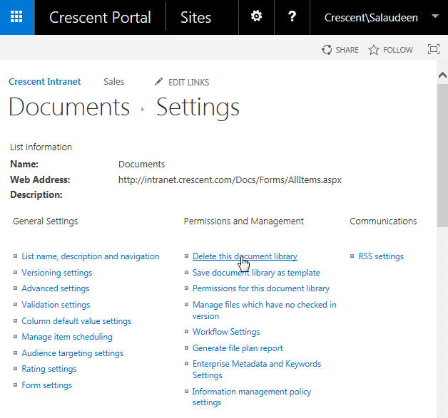 powershell delete document library sharepoint 2013