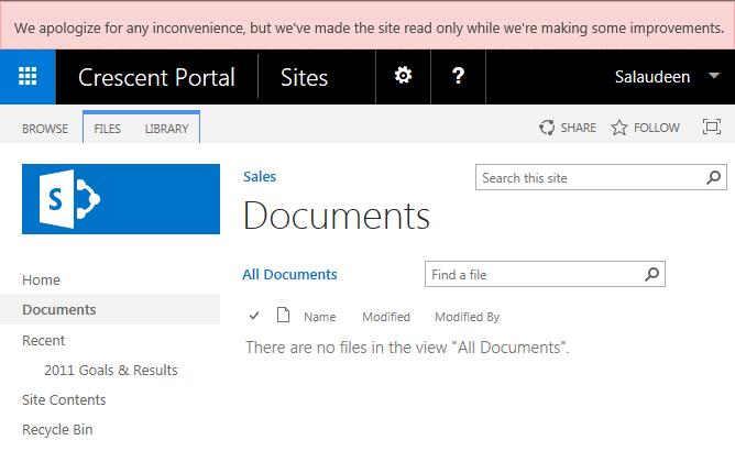 sharepoint 2013 remove maintenance mode