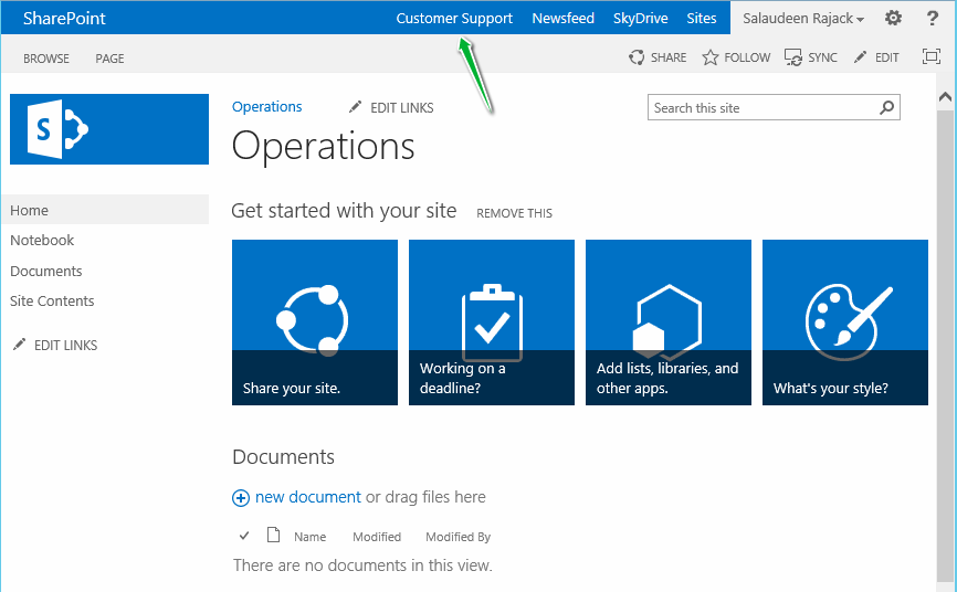 add link to suite bar sharepoint 2013