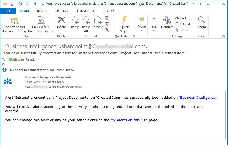 Copy Alerts from One List to Another List in SharePoint
