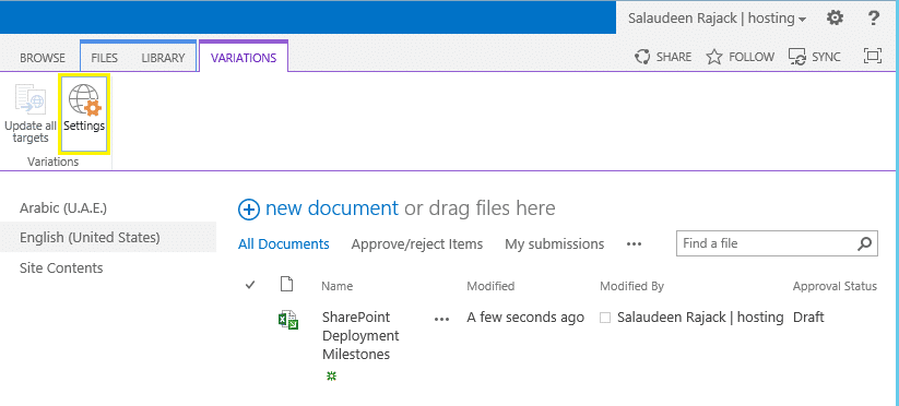 sharepoint 2013 create variation labels