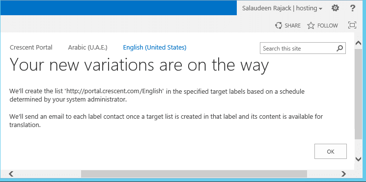 configure variation sharepoint 2013