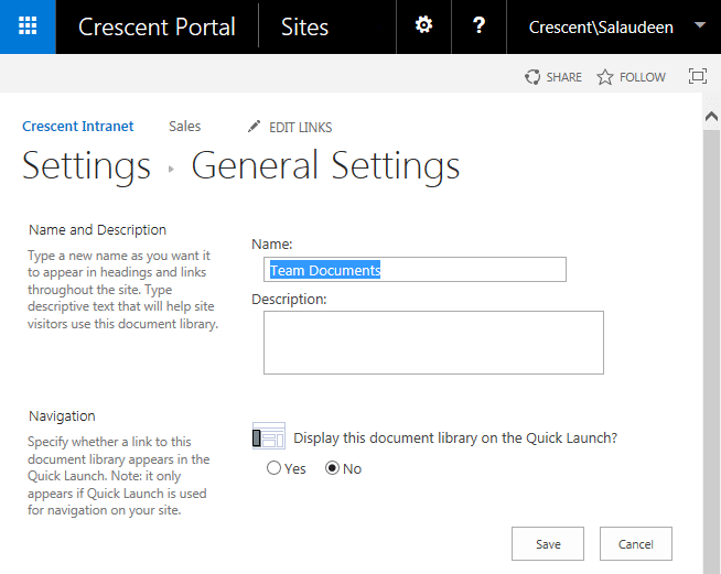 how to rename sharepoint list