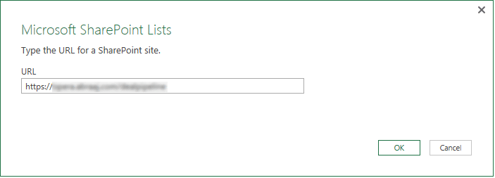 power query connect sharepoint list