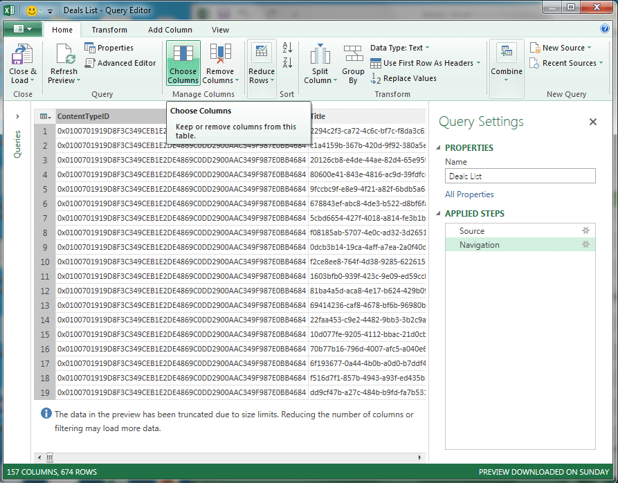 power query for SharePoint