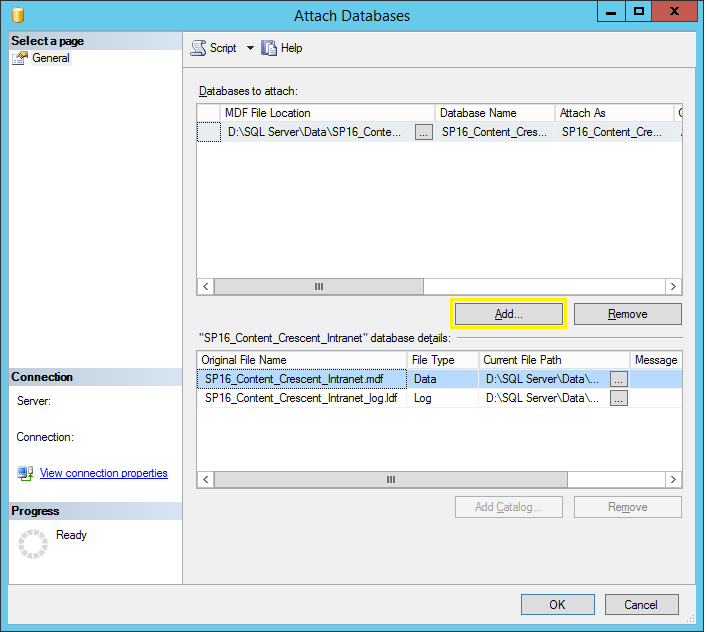 move sharepoint database to different drive