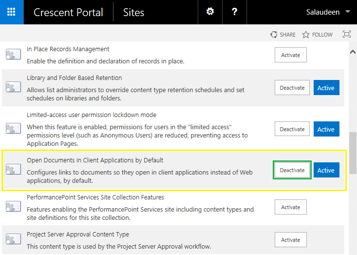 sharepoint deactivate feature all sites using powershell