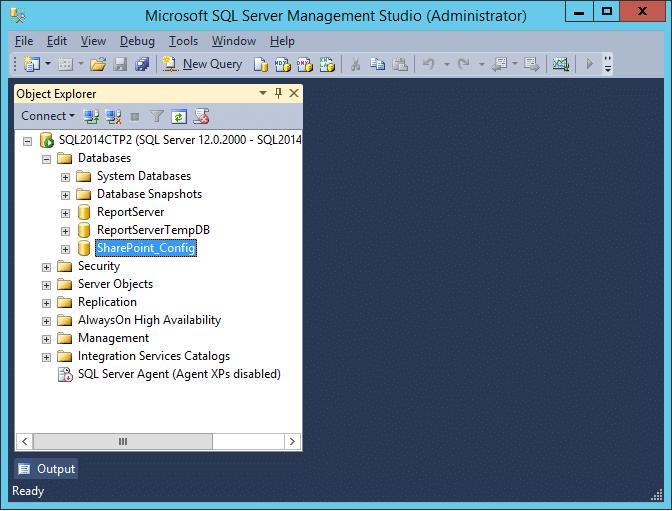 error resolution delete the config db