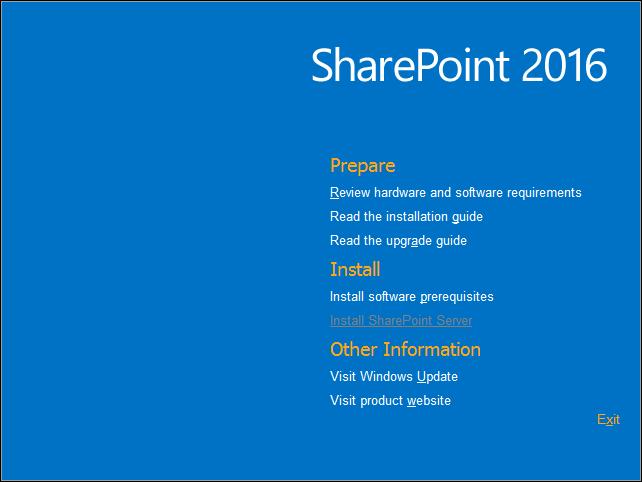 sharepoint 2016 installation steps