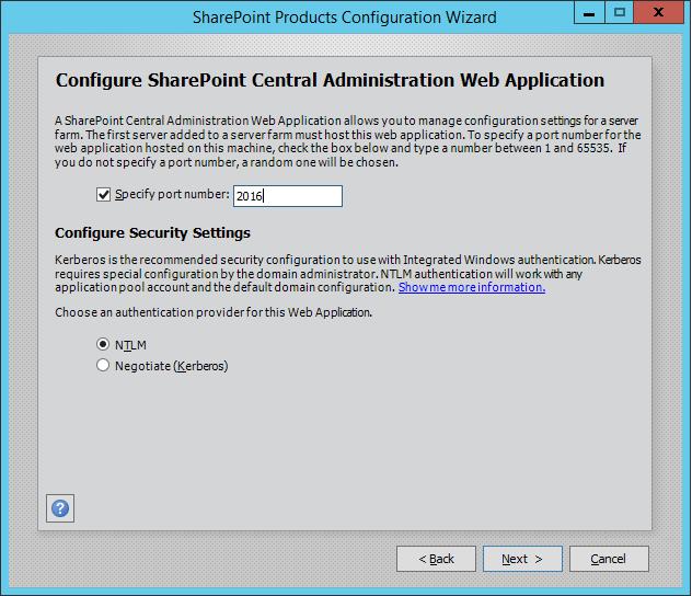 sharepoint 2016 installation single server
