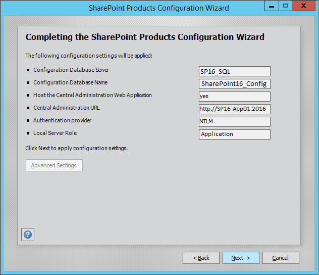 28 verify configuration settings