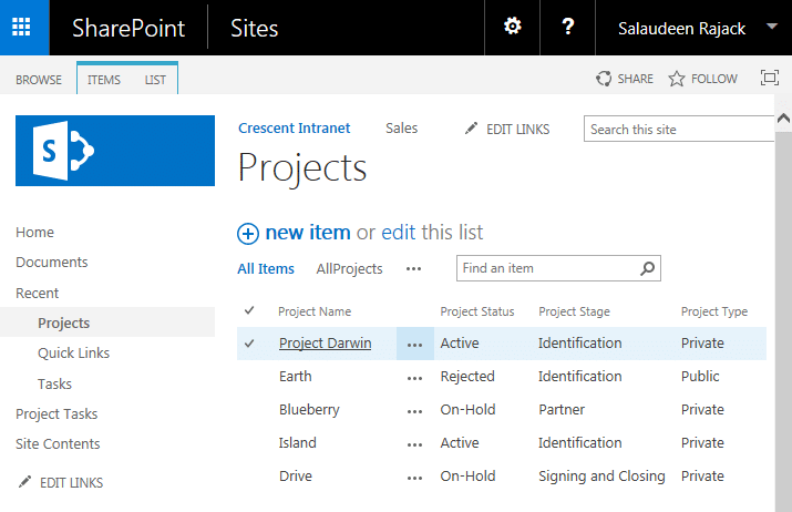 sharepoint change link to item field